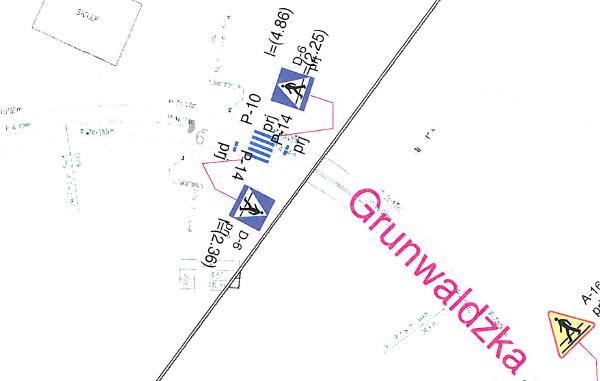 Przejście dla pieszych i ograniczenie prędkości do 40 km/h na Grunwaldzkiej