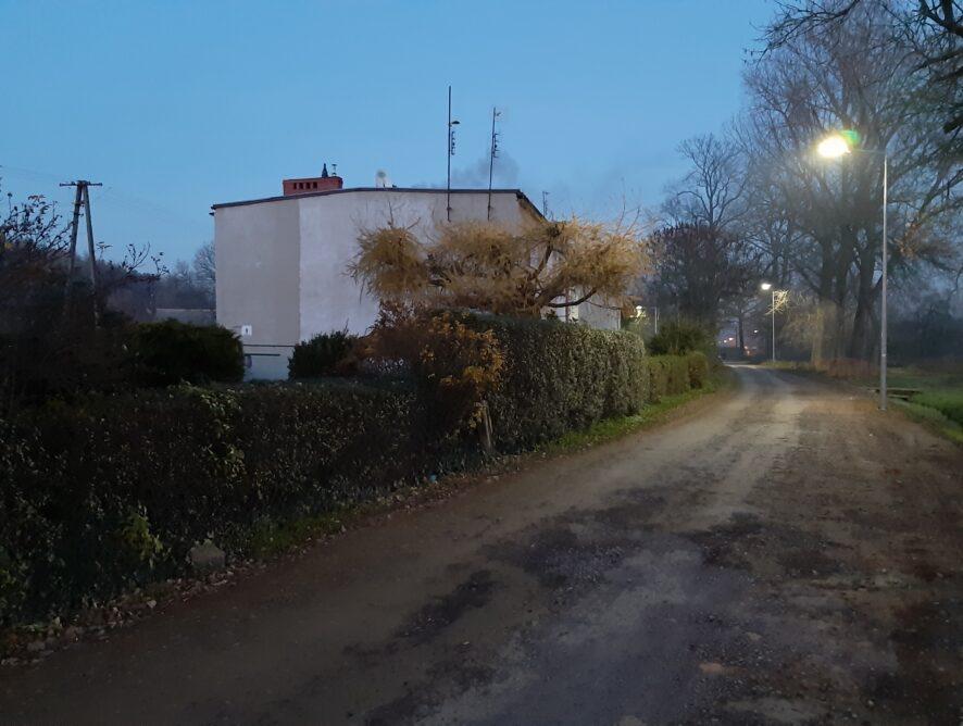 Nowe oświetlenie przy Łąkowej